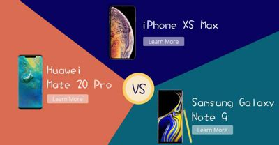 huawei mate 20 pro vs iphone xs max vs samsung galaxy note 9