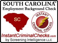 Carolina Background Check South Carolina Employment Background Check Sc Criminal Data