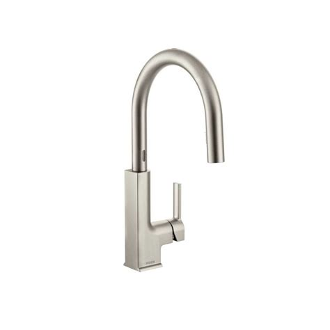 motionsense kitchen faucet faucet com s72308esrs in spot resist stainless by moen