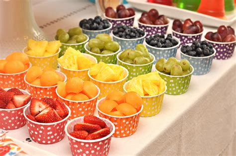 party food parties rainbow jelly bean birthday party creative juice
