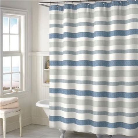 Blue And Grey Shower Curtains Blue And Grey Striped Shower Curtain Curtain Menzilperde Net