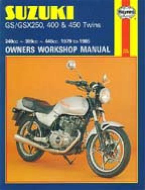Suzuki Gs250 Specs Haynes Suzuki Gs250 450 1979 1985 Repair Manual