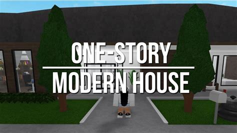 1 Floor Mansion Bloxburg - roblox welcome to bloxburg one story modern house 48k