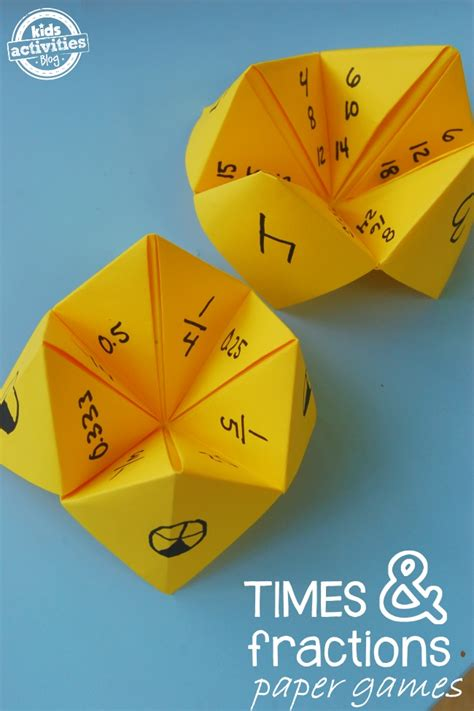 Paper Folding Activities In Mathematics - paper math fractions and multiplication