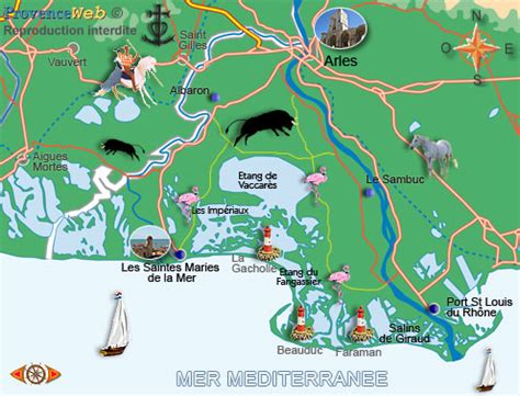 camargue map provence web