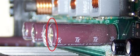 capacitor problem in motherboard bad capacitors hp support forum 648609