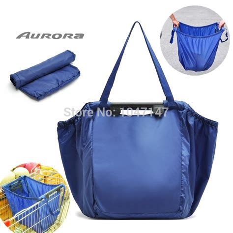 Gratis Ongkir Supermarket Trolley Organizer Bag Shopping Bag za029 free shipping wholesale oversized folding shopping bag storage bag reusable big bag