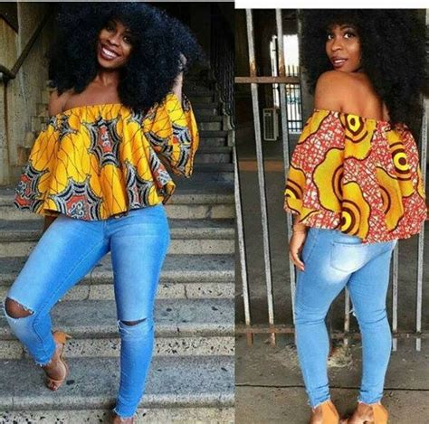 hairstyles for party on jeans top love love this off the shoulder ankara top on the rip