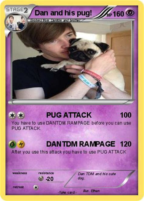 what are dantdm s pugs names pok 233 mon dan and his pug pug attack my card