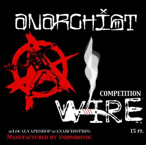 Anarchist Competition Wire Ni80 Nichrome 80 An80 Authentic anarchist wire 20g an80 twisted messes