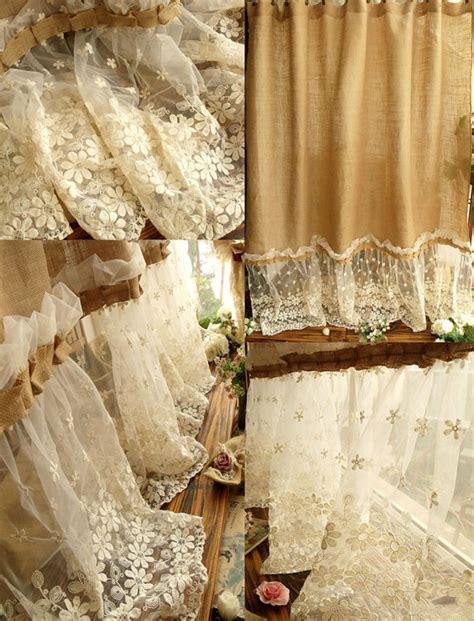 shabby chic burlap kitchen design gallery shabby chic shower curtain