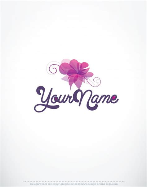 design logo flower exclusive design luxury purple flower logo compatible