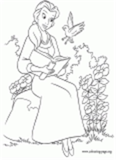 belle reading coloring pages beauty and the beast coloring pages