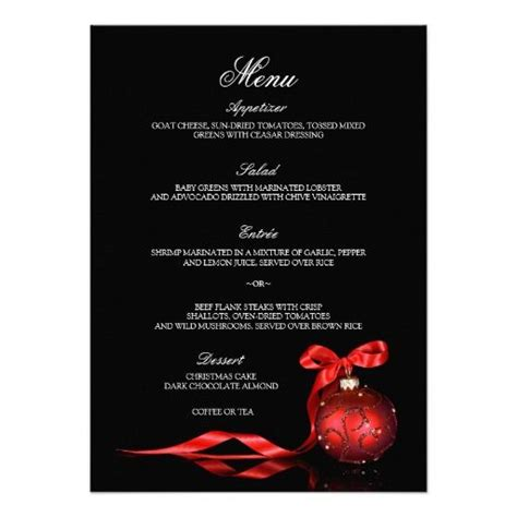 elegant dinner party menu elegant christmas dinner menus card christmas parties