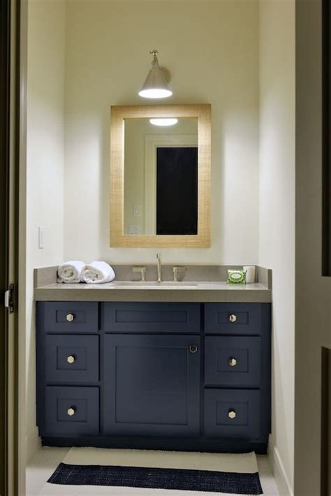 Navy blue bathroom vanity design ideas