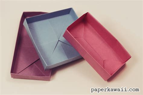 origami rectangular box with lid origami rectangular envelope box tutorial paper kawaii