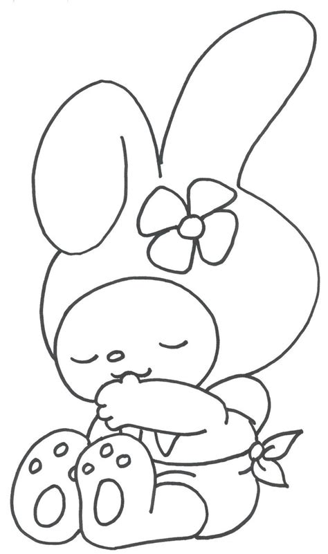 hello kitty and my melody coloring pages my melody in rumpeldogskin by joyfulmusic on deviantart