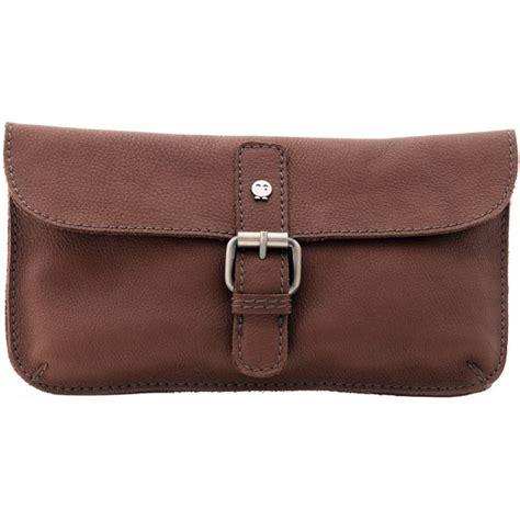 yoshi leather clutch bag mini across