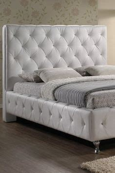 stella crystal tufted white modern bed with upholstered headboard 1000 images about mobiliario hogar on pinterest modular