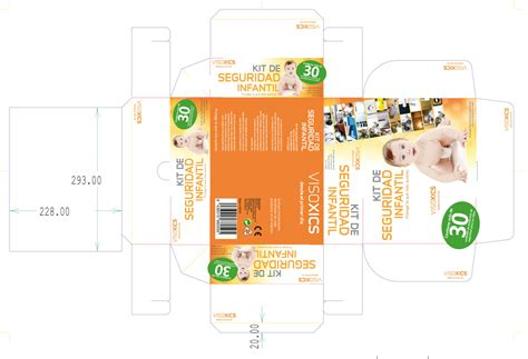 layout packaging vector child safety kit box for pharmacies packaging design