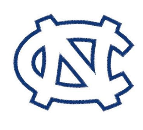 unc tar heel tattoo designs carolina tar heels embroidery design instant