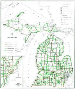 Road Map Of Michigan by Similiar Map Of Michigan Cities And Interstates Keywords