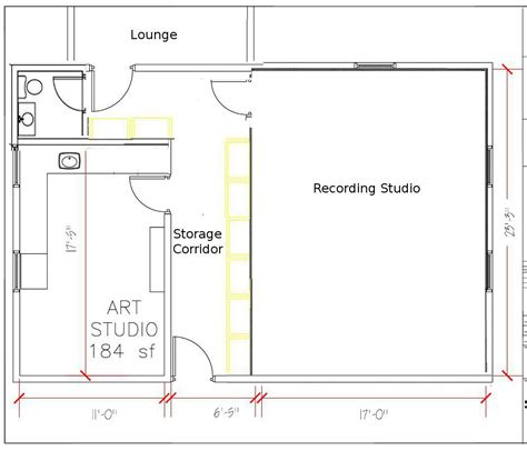 studio plan detached garage studio conversion musicplayer forums