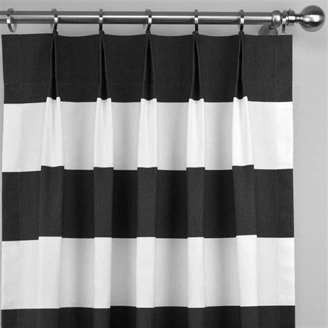 black and white horizontal stripe curtains black white horizontal stripe modern cabana curtains pinch