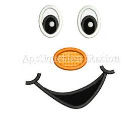face cheeky grin smile applique machine embroidery design