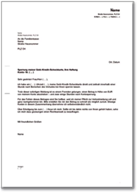 Musterbrief Kredit Bearbeitungsgebühr Erstattung Brief An Die Bank Nach Versp 228 Teter Sperrung Der Kredit Scheckkarte De Musterbrief