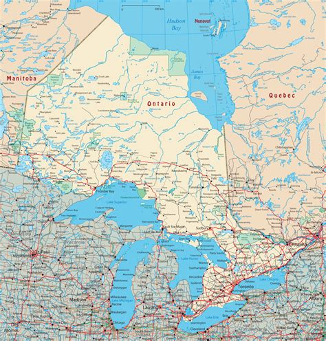 map of ontario map of ontario canada