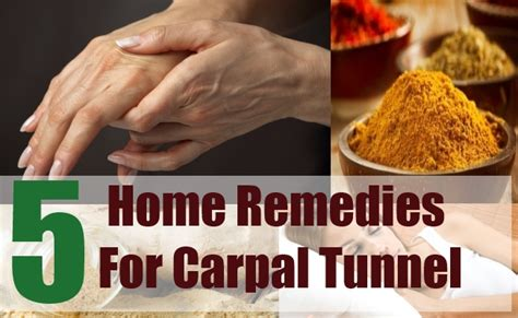 5 home remedies for carpal tunnel treatments