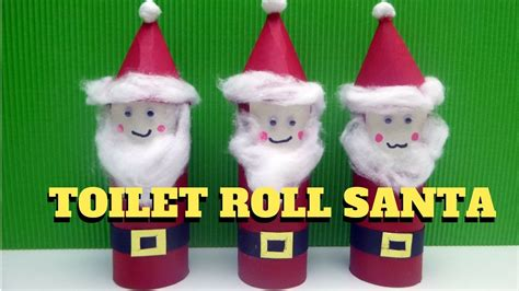 christmas crafts with toilet rolls craft toilet paper roll santa claus toilet paper roll craft