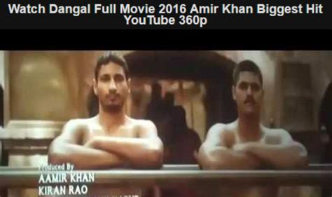 Dangal 2016 Full Movie Dangal Full Movie Available For Free On Youtube Aamir Khan Suffers Another Setback After Film