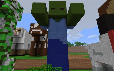minecraft tutorial zombie statue zombie statue arms out minecraft project