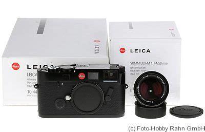 leitz: m6 ttl .50 black price guide: estimate a camera value