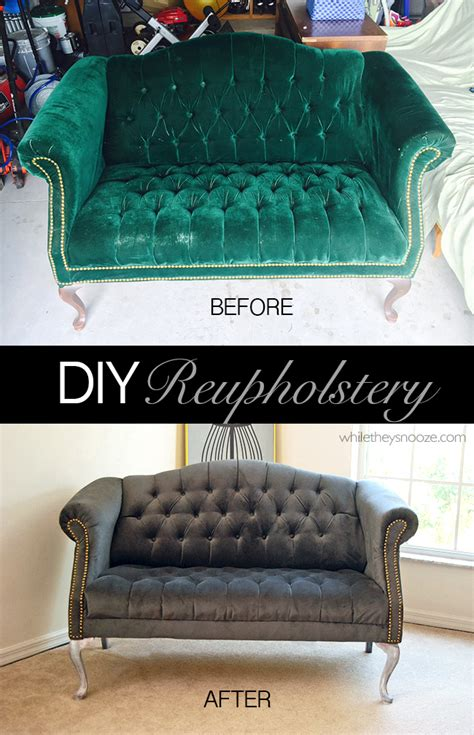 reupholstering a settee while they snooze how to reupholster a tufted couch
