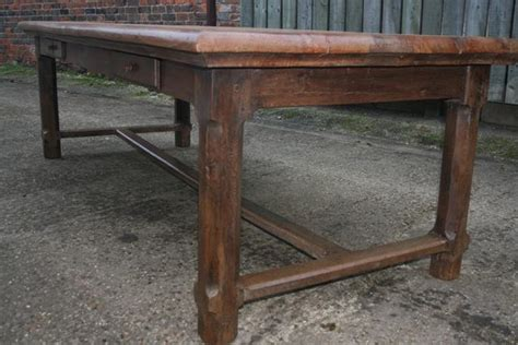 Elm Refectory Table With Four Drawers Antique Farmhouse Dining Table With Drawers