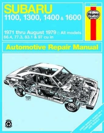 what is the best auto repair manual 1979 buick riviera regenerative braking subaru 1100 1300 1400 1600 haynes repair manual 1971 1979 the your auto world com dot com