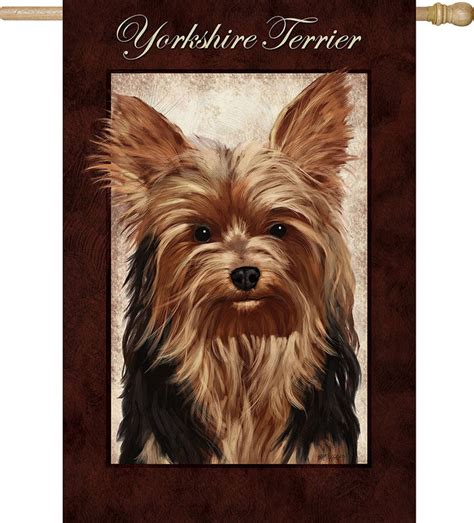 yorkie dog house yorkie yorkshire terrier dog house garden flag decorative 12 5 quot x 18 quot
