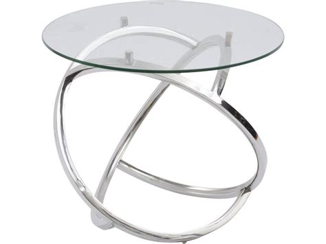 silver metal side table modern glass and silver metal side table polished steel