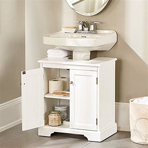 pedestal sink storage cabinet clever storage ideas for small bathrooms a of
