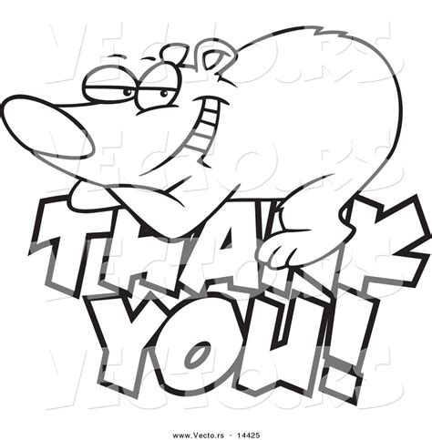 coloring pages please and thank you vector of a cartoon grateful bear resting on thank you