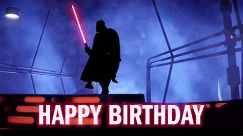 imagenes happy birthday star wars funny star wars happy birthday gif gifs pinterest