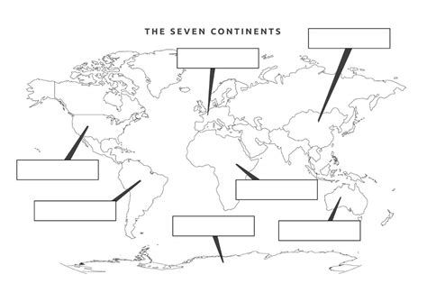 printable label the continents worksheet free worksheet 7 continents worksheet phinixi com