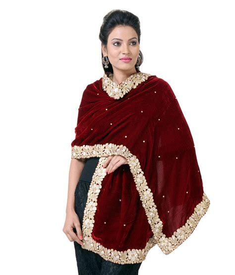 Pasmina Velvet Vip 2 rutbaa maroon velvet embroidered shawls price in india buy rutbaa maroon velvet embroidered