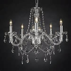 Chandelier Glass Cups New Authentic All Crystal Chandelier Lighting 5 Lights
