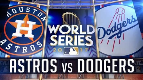 World Series Sweepstakes 2017 - dodgers down astros 3 1 in world series game 1