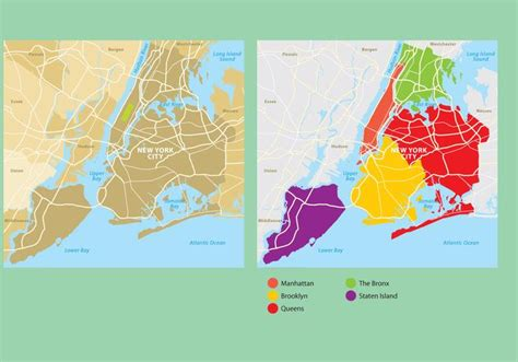 map de new york new york city map free vector stock