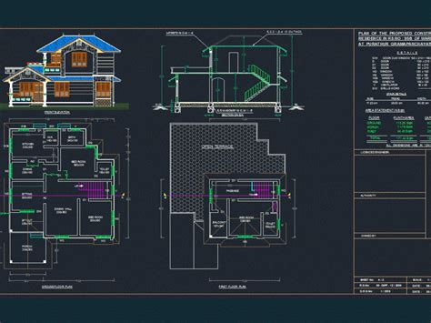 home dwg plan  autocad designs cad